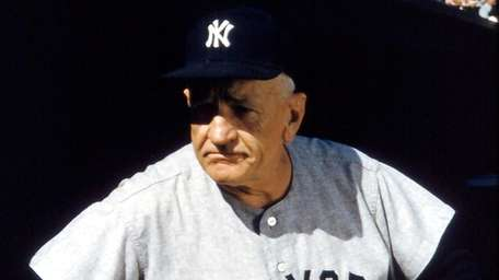 Hall of Fame Manager Casey Stengel of the
