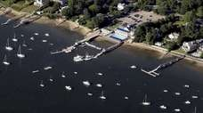 Northport Harbor in this aerial picture on July
