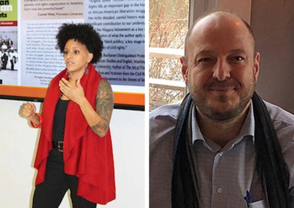 Professors Angela Jones and Theodore Koukounas, featured in
