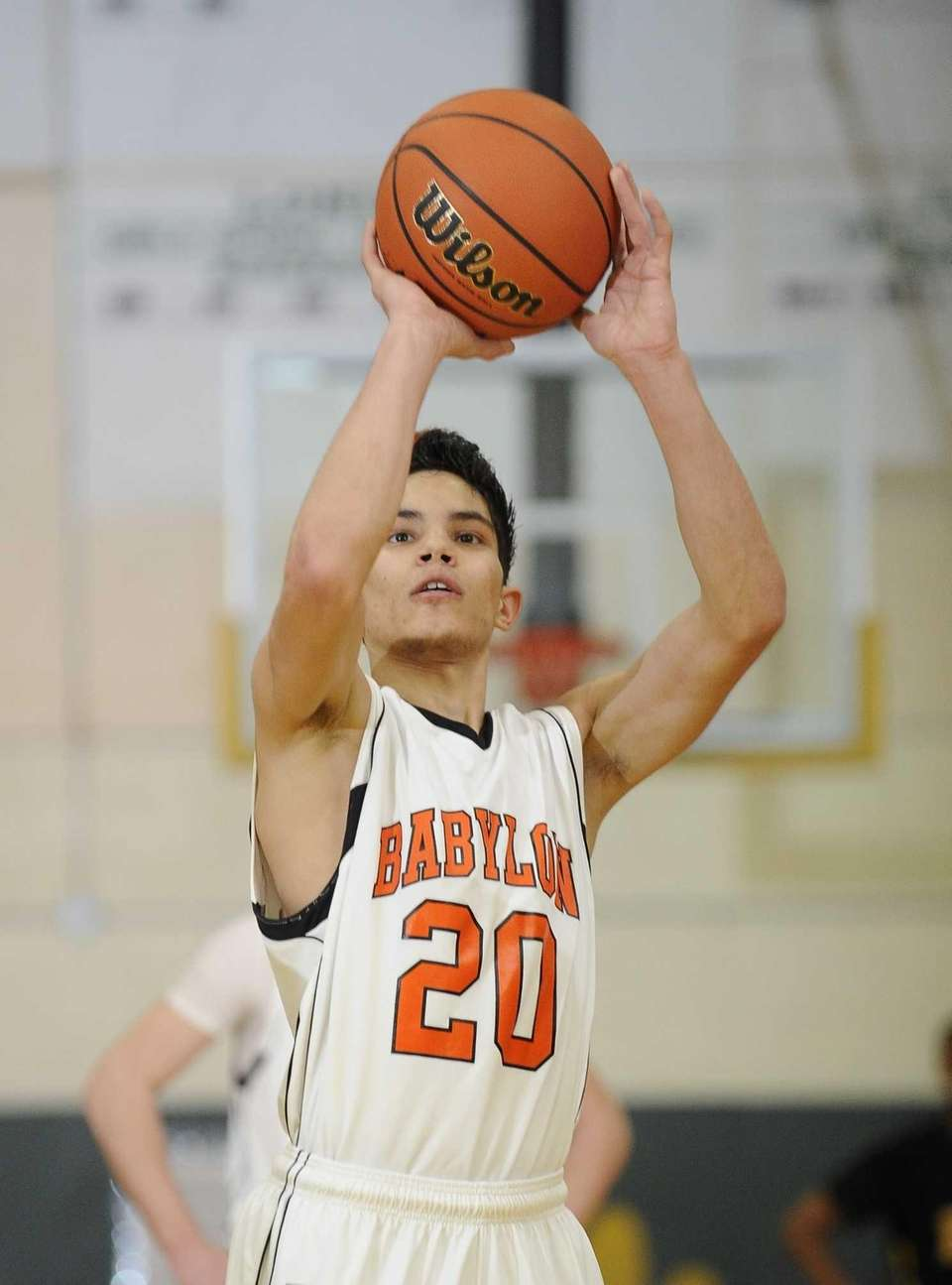 Babylon's Fernando Vasquez shoots a free throw against