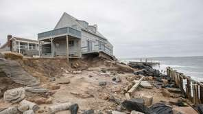 Erosion damage caused by superstorm Sandy at home