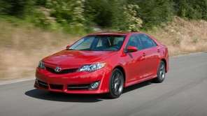Family cars, including the 2012 Toyota Camry pictured