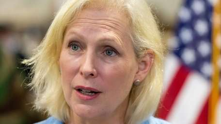 Sen. Kirsten Gillibrand (D-N.Y.) is pictured in Bethpage