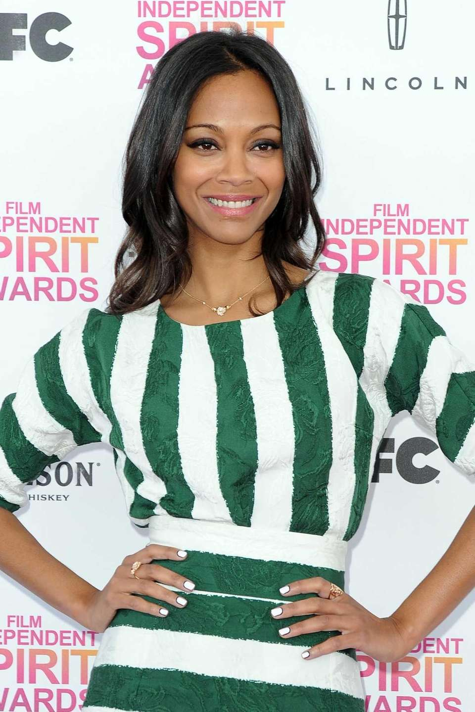 Zoe Saldana at the 2013 Film Independent Spirit