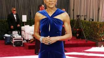 TV anchor Robin Roberts arrives at the 85th