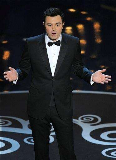 Host Seth MacFarlane during the Oscars at the