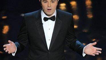 Host Seth MacFarlane during the Oscars at the