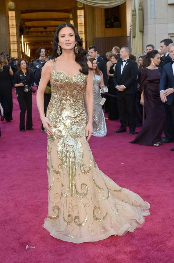 Catherine Zeta-Jones arrive at the Oscars held at