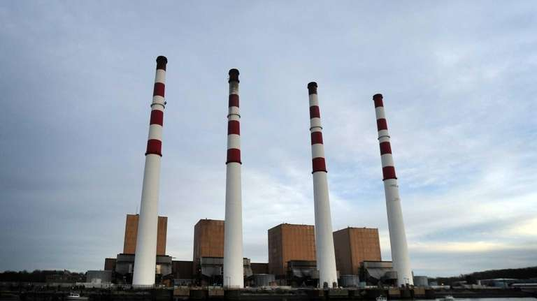 The National Grid Power station in Northport is