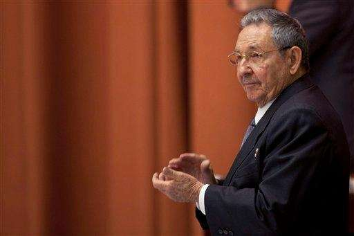 Cuba's President Raul Castro participates in the closure