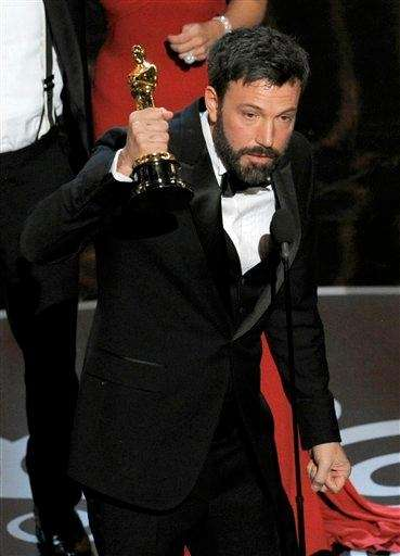 Director/actor/producer Ben Affleck accepts the Academy Award for