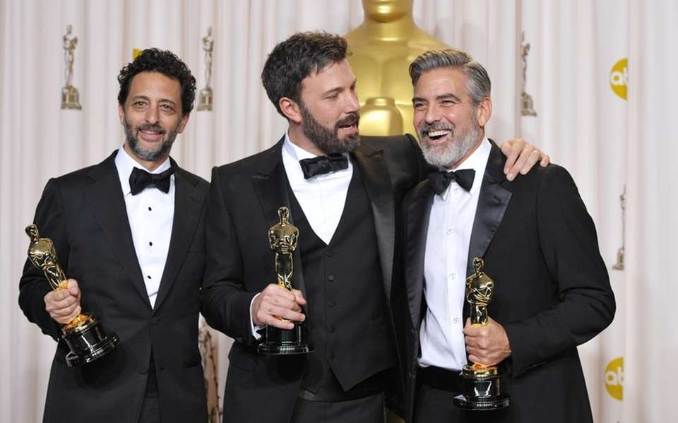 "From left, ""Argo"" producers Grant Heslov, Ben Affleck"