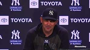 Yankees manager Aaron Boone said on Sunday that