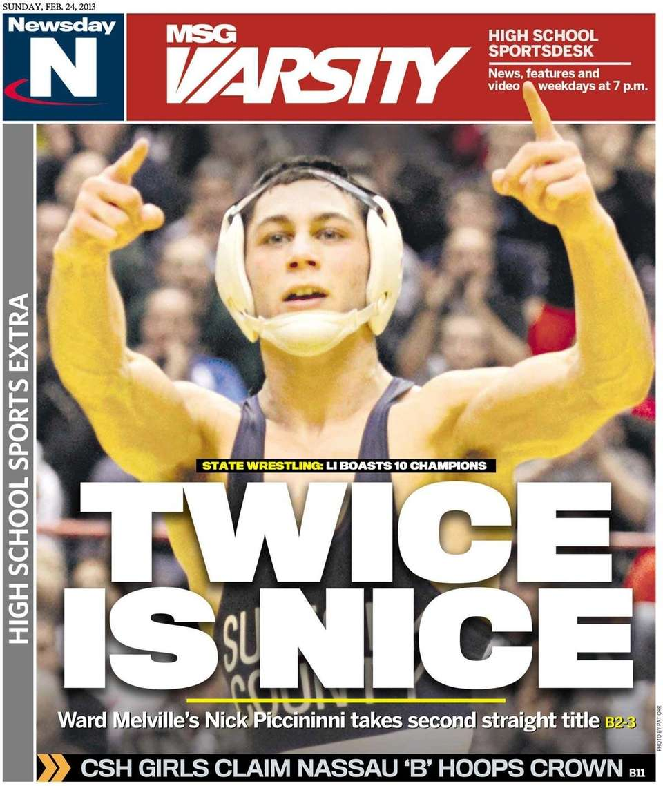 State wrestling champion Nick Piccininni of Ward Melville