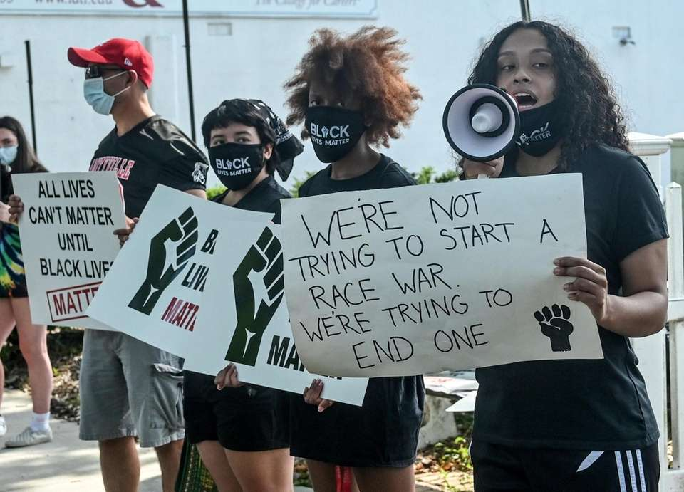 Protestors March against racism and police brutality on