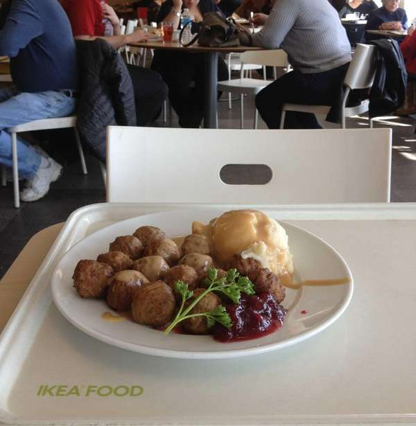 At Ikea in Hicksville, Swedish meatballs are still