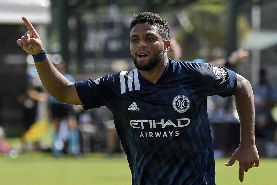 Ismael Tajouri-Shradi of New York City FC reacts