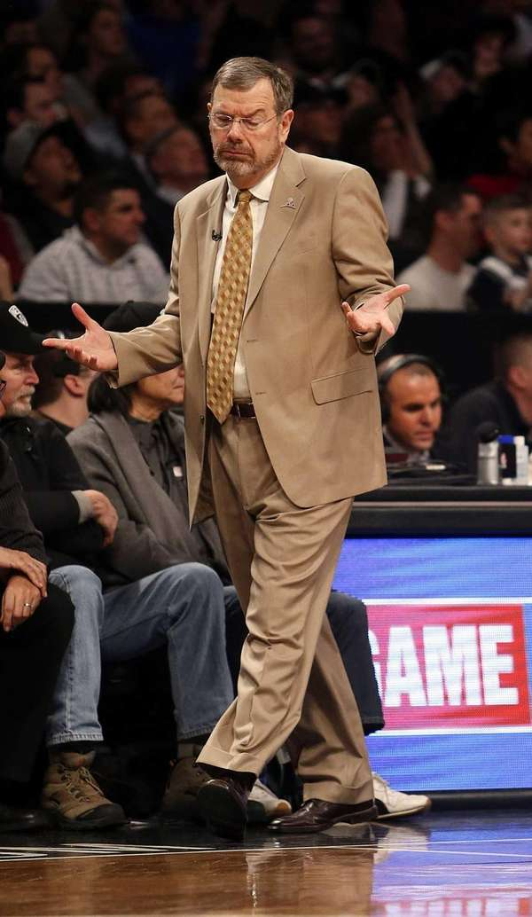 P.J. Carlesimo reacts to a call in the