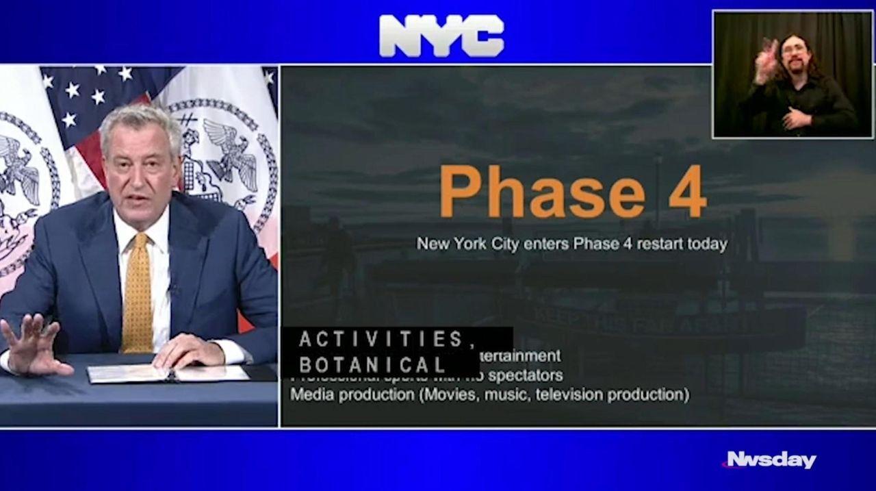 NYC Mayor Bill de Blasio discusses the start