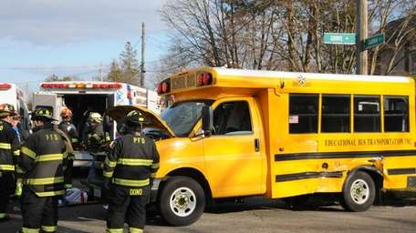 Four students suffered minor injuries after being struck