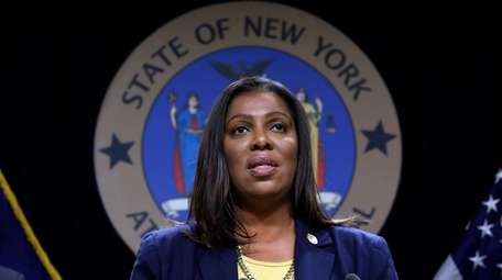 New York State Attorney General Letitia James speaks