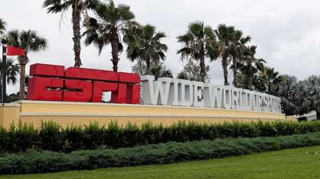 A sign marking the entrance to ESPN's Wide