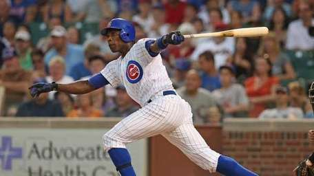 Alfonso Soriano #12 of the Chicago Cubs