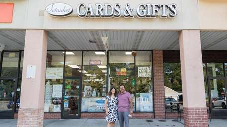 Dave and Pinky Patel, owners of Setauket Cards