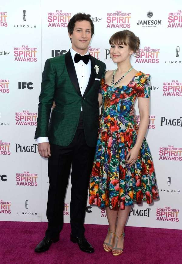 Andy Samberg and musician Joanna Newsom attend the