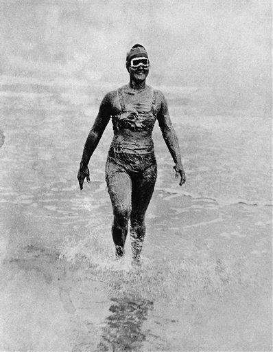 Ederle became the first woman to swim across