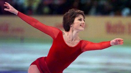 Ice-skating legend Dorothy Hamill, whose famous swinging 'do