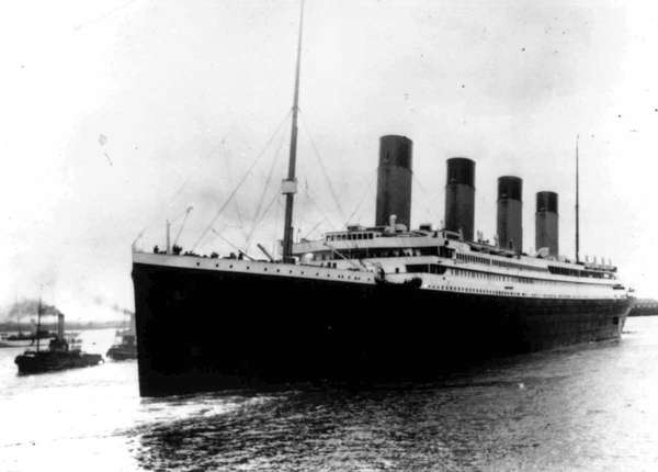 The Titanic struck an iceberg on its maiden
