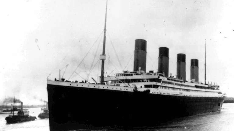 The Titanic struck an iceberg on its maiden