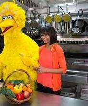 Big Bird and Michelle Obama team up to