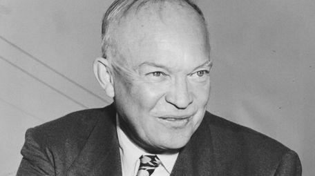 Dwight D. Eisenhower arrives in Bellerose, New York