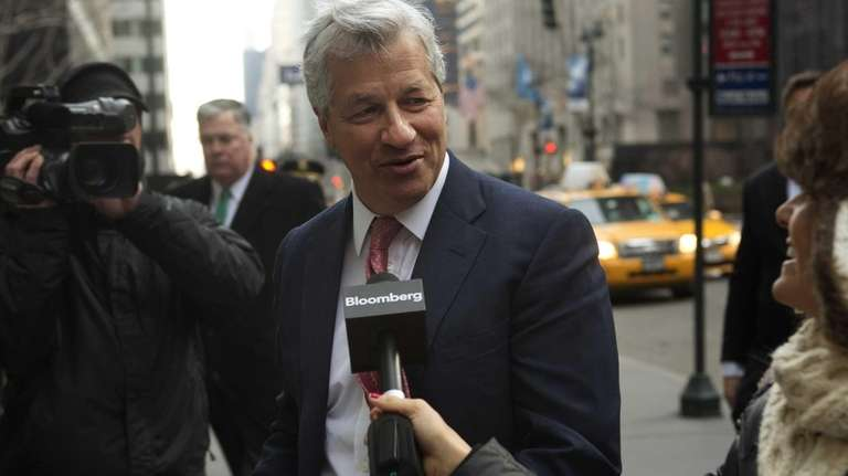 JPMorgan Chase chief executive Jamie Dimon arrives at
