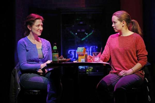 Edie Falco, left, and Phoebe Strole during a
