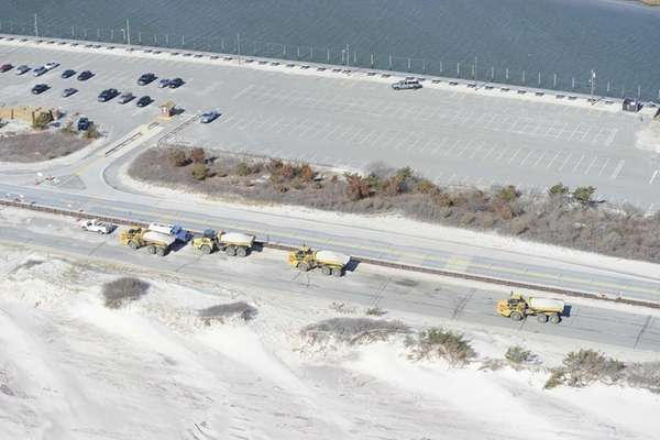 Dredging continues in the Fire Island Inlet on