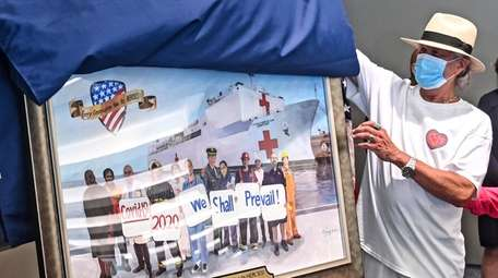 "Artist John Clancy unveils his painting ""Every Generation"