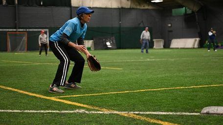 Patricia Klammer waits to field the ball at