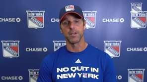 Rangers head coach David Quinn spoke Wednesday about