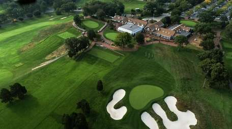 A 2018 aerial view of the Bethpage Black