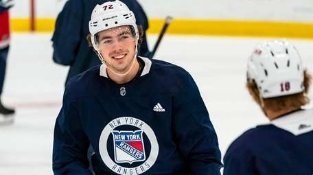 Filip Chytil at Rangers training camp on July
