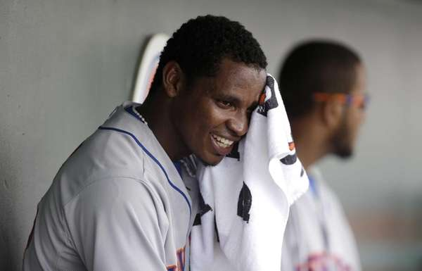 Mets relief pitcher Jenrry Mejia sits on the