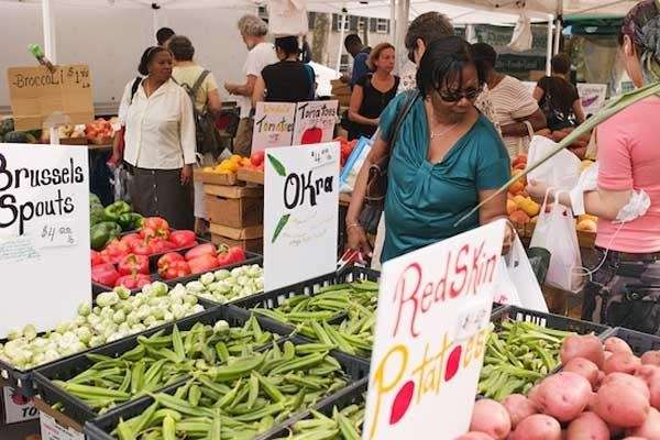 Pick up local produce at the Brooklyn Borough