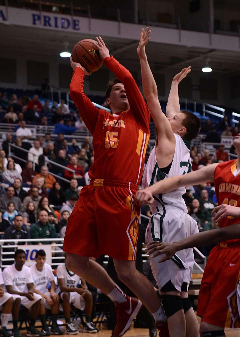 Chaminade's Brian Ehrhardt goes up for the layup