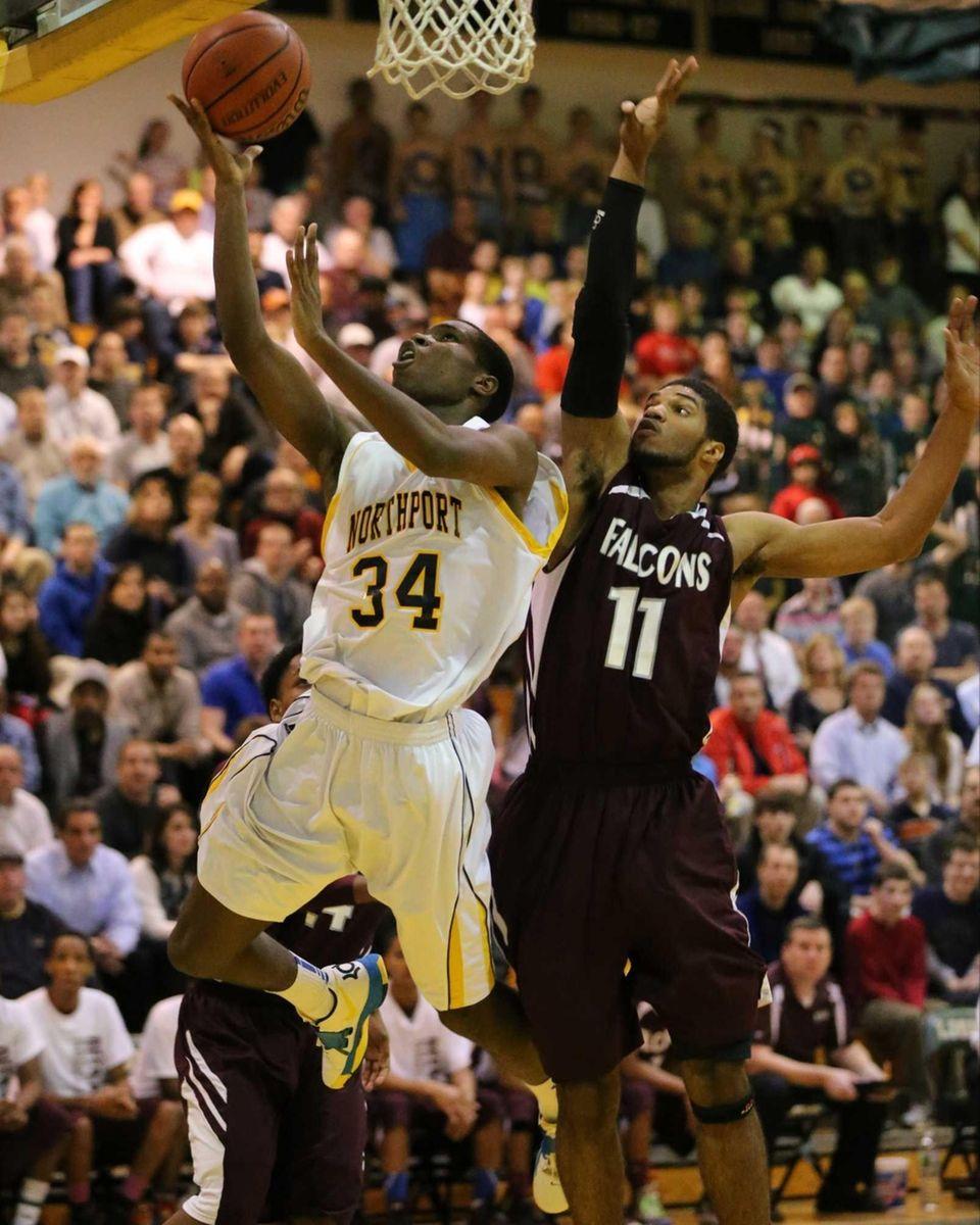 Northport's Michael Milligan, Jr. sinks a layup past