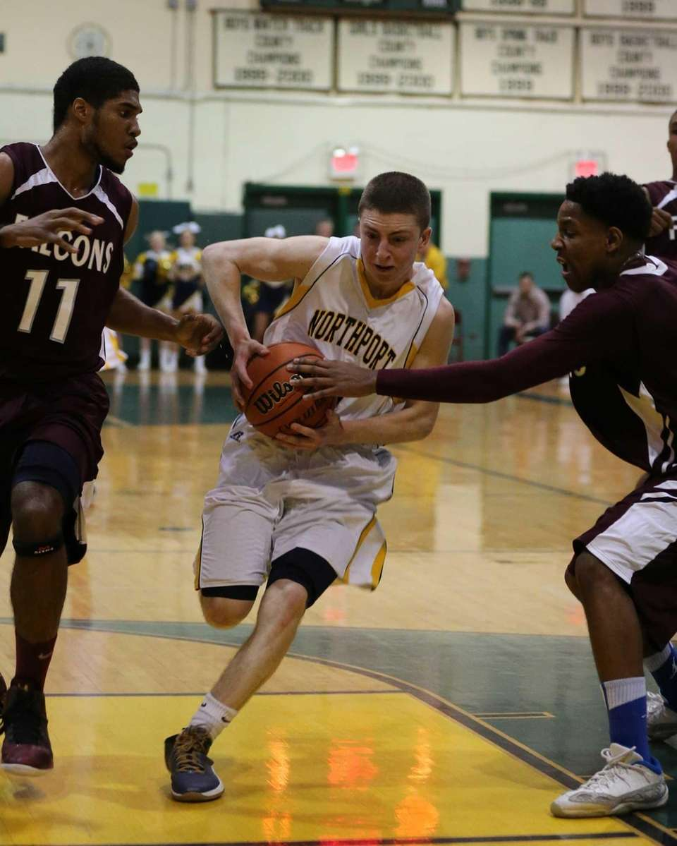 Northport's Austin Marchese drives to the basket in