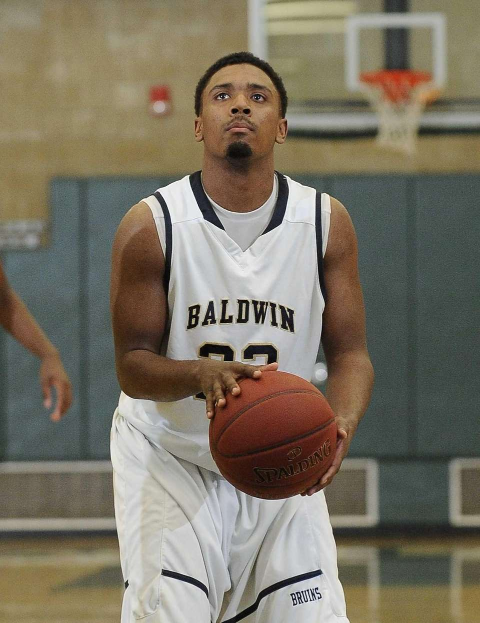 Baldwin's Mike Abrahams shoots from the free throw