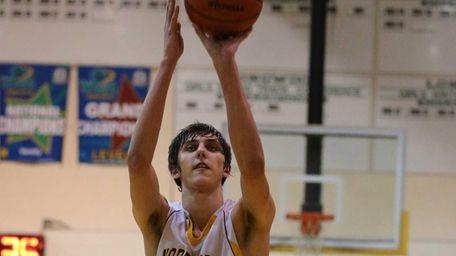 Northport's Luke Petrasek sinks a free throw in